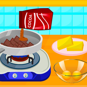 Cooking Delicious Fudge Puddles Cake Game