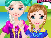 Baby Frozen Sisters Picnic game
