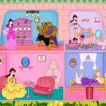 play Princess Belle Doll House Decor