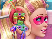 play Super Barbie Ear Doctor