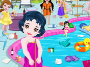 play Baby Princess Swimming Pool Cleaning