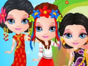 Baby Barbie World Costumes game