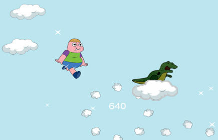 Clarence Jumping Clouds game