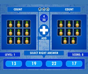 Fruit Count Math game
