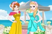 Elsa And Anna Bridemaids Dresses Game game