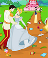 play Princess Cinderella Wedding Cleaning