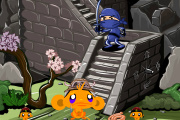 play Monkey Go Happy - Ninjas 2