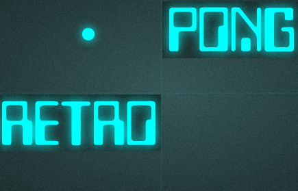 Pong Retro game