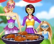 Barbie Family Cooking Barbecued Wings game