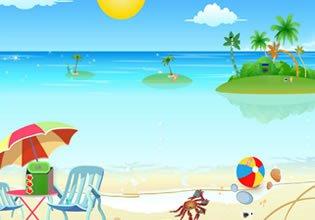 play Escapefan Red Sun Beach Escape