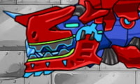 play Dino Robot: Tyrano Red And Tricera Blue