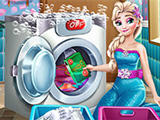 play Elsa Laundry Day