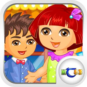 play Baby Couple Sweet Valentine: Dora Version
