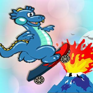 play Baby Dino Volcano Skate Park : Dragon And Monster Escape Free