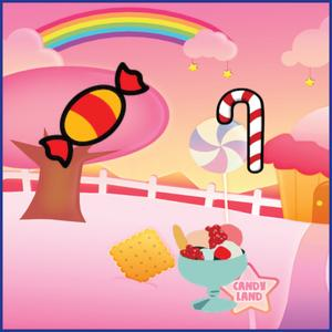 play Candy Kids Activity App - Sounds, Puzzles And Match For Kids