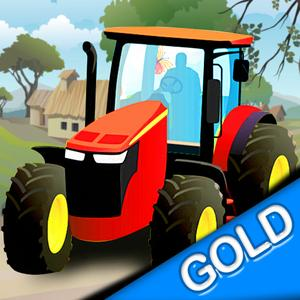 play Farmer Tractor Bale Of Hay Transport - Gold Edition