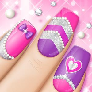 Designs game pink nails manicure salon and beauty studio for girls