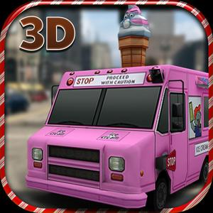 play Ice Cream Truck Simulator 3D - Fun Filled Crazy Icecream Truck Simulation And Parking Game For Drivers