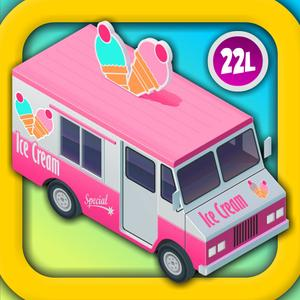 play Ice Cream Truck: Kids Vehicles With Alex & Dora 2.▫ 3D Learning And Toddler Counting By Abby Monkey® Preschool And Kinde
