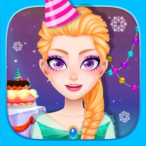 play Ice Princess Birthday Adventure - Girls Doctor Care & Cooking Game