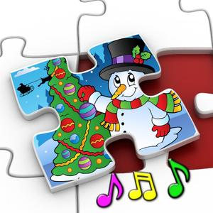 play Kids Christmas Jigsaw Puzzle Shapes - Educational Game For Preschool Children 3+