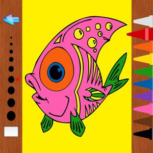 play Kids Coloring Book - The Sea Animals Learning For Fun