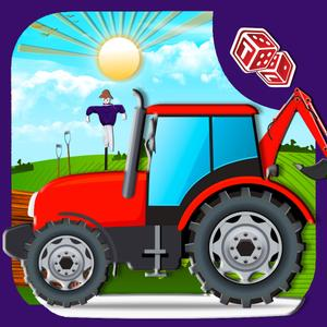 play Kids Farming Tractor Sim - Driving Game