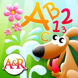 play Magic Garden With Letters And Numbers - A Logical Game For Kids