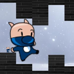 play Ninja Pig In The Wall