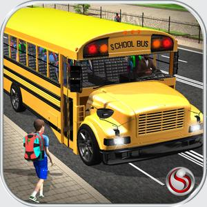 play School Bus Driver – City Drive To Pick & Drop Kids