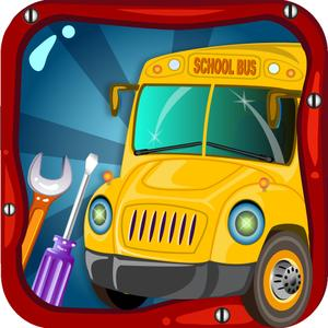 play School Bus Wash & Garage – Little Car Salon, Summer Fun With Vehicle Spa Workshop For Paint, Vinyl, Colors, Soap, Clean