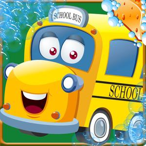 play School Bus Wash – Best Bus Washing Game Salon And Auto Repair Shop