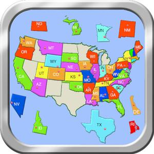play United States Puzzle Map