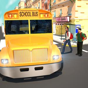 play Urban City Schoolbus Driver 3D