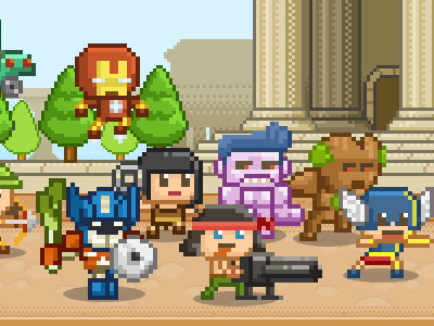 Awesome happy heroes strategy games