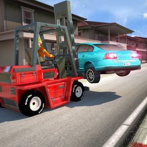 play Car Traffic & Forklift Driver 3D