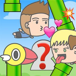 play Kiss Celebrity - Flappy Adventures Of Kissing Chibi Celebrities With Emoji