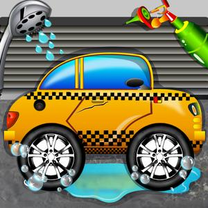 play Taxi Car Wash Simulator 2D - Clean & Fix Automobiles In Your Garage