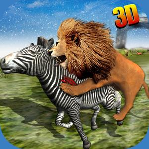 play Wild African Lion Sim 3D - Real Safari King Hunting Deer On Snow Mountains In Winter