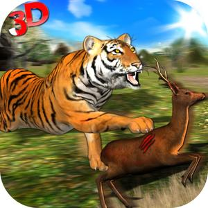play Wild Tiger Jungle Hunt 3D - Real Siberian Beast Attack On Deer In Safari Animal Simulator Game