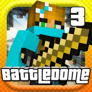 play Battle Dome 3 - Mc Mini Block Survival Shooter Game With Multiplayer