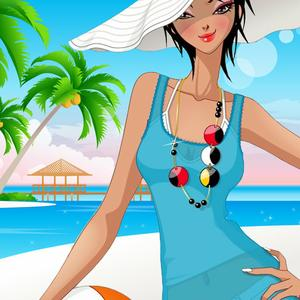 play Beach Fashion: Dress Up And Makeup Game