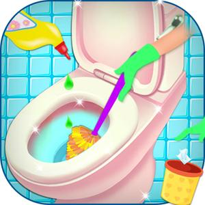 play Dirty Bathroom Cleaning - Help Mommy Washing Cleanup