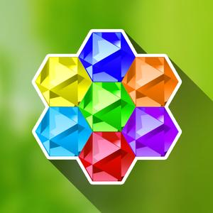 play Hexazle - Hexagon Puzzle To Connect, Match And Balance Hexagons Into Snake Or Cross