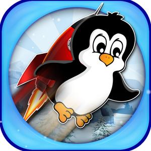 play Little Penguin Jetpack Rider Pro - Survival In The Dangerous Mountains