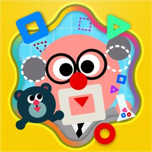 play Shape The Village - Interactive Introduction On Circle, Triangle And Square For Kids