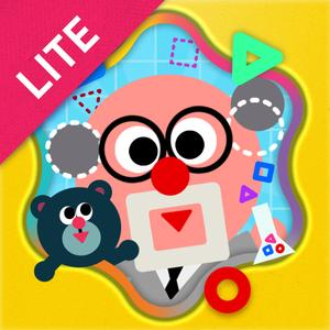 play Shape The Village Lite - Interactive Introduction On Circle, Triangle And Square For Kids