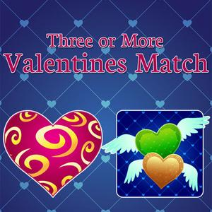 play Three Or More: Valentines Match