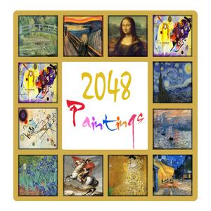play 2048 Puzzle Game: Popular Paintings