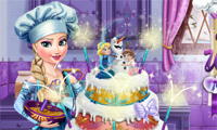 play Elsa Wedding Cake